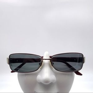Christian Dior Red Oval Sunglasses Frames
